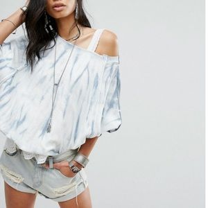 FREE PEOPLE East Meets West Tie Dye Top L NWT